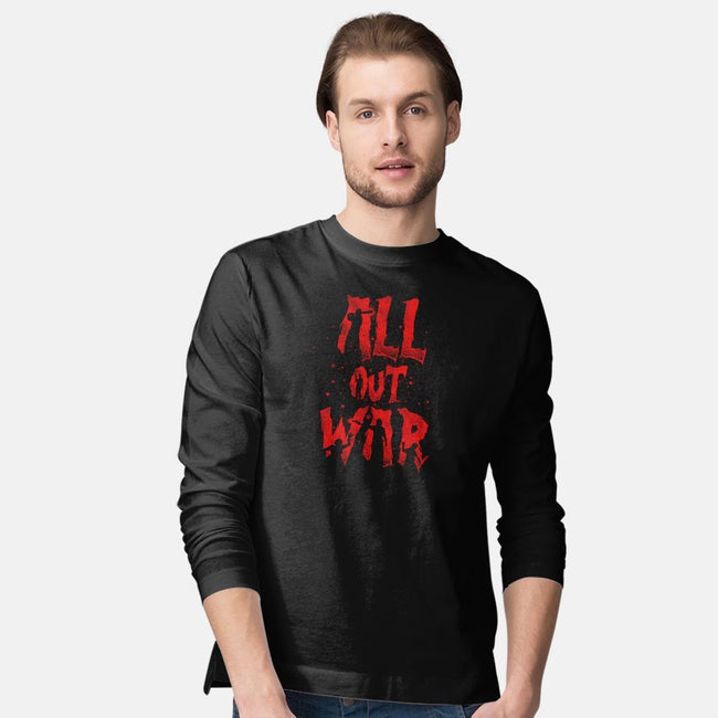 All Out War-mens long sleeved tee-Beware_1984