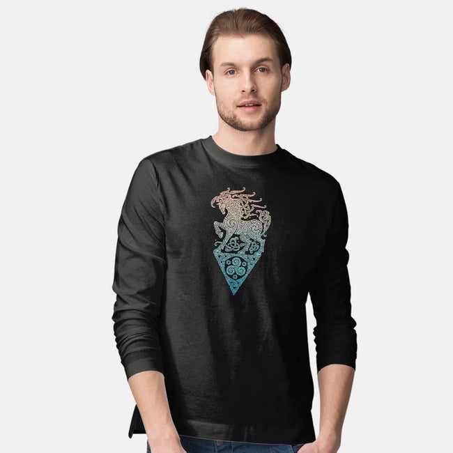 Odin's Steed-mens long sleeved tee-RAIDHO