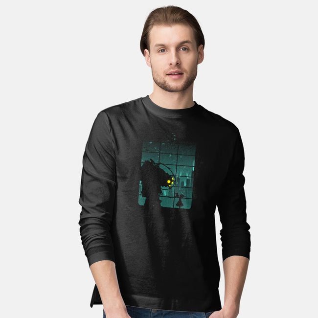 Come On, Mr. Bubbles!-mens long sleeved tee-filiskun