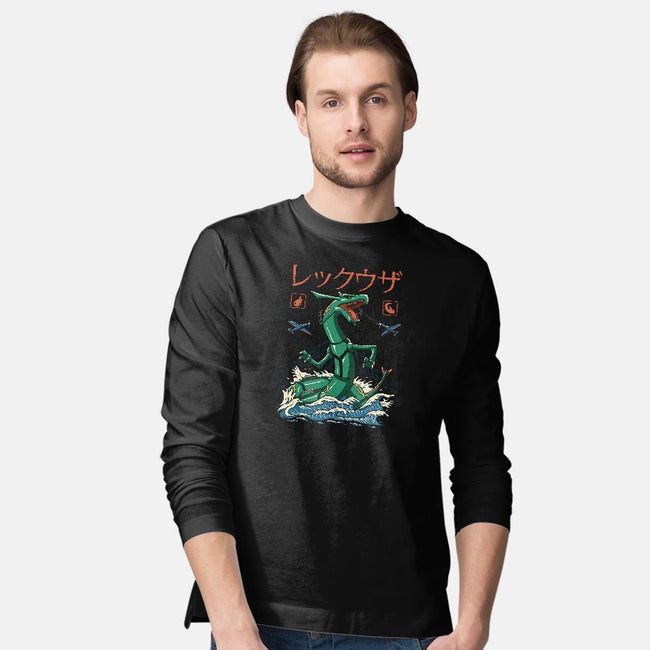 Mega Dragon Flying Kaiju-mens long sleeved tee-vp021