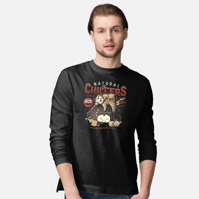 Natural Born Chillers-mens long sleeved tee-eduely