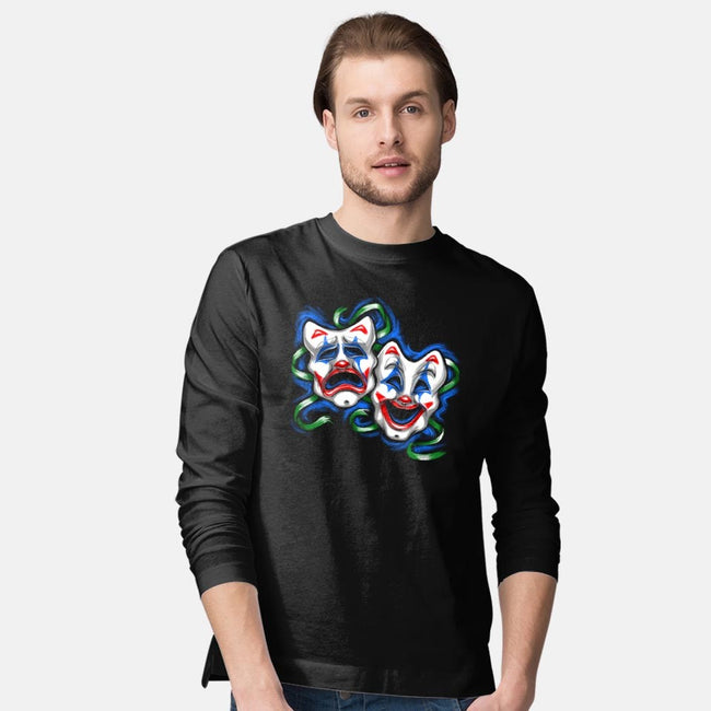 Life is A comedy/ Tragedy-mens long sleeved tee-punksthetic