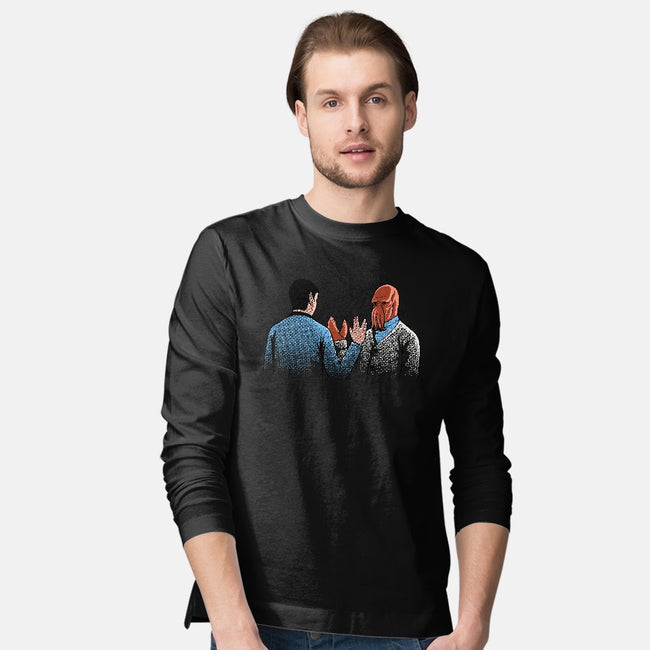 Vulcan Salute-mens long sleeved tee-Naolito