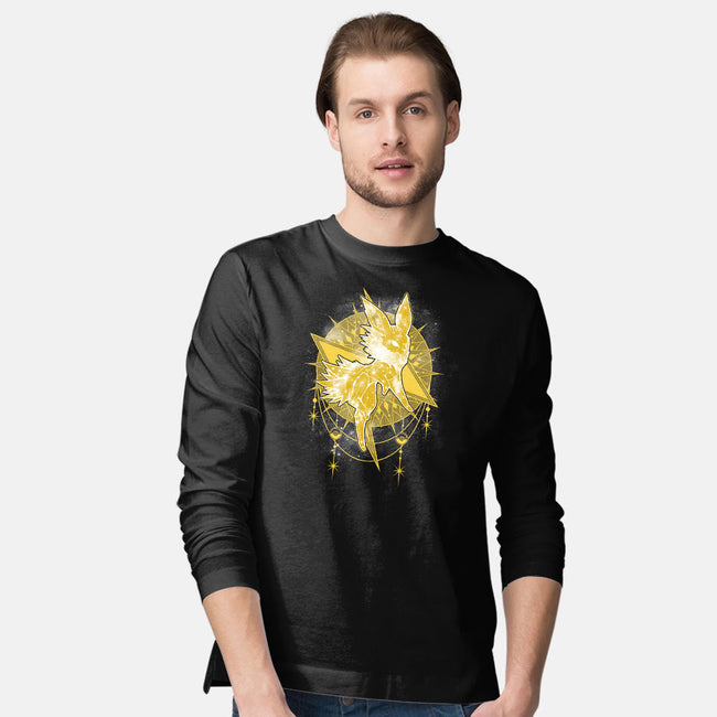 Starry Sky of Lightning-mens long sleeved tee-ChocolateRaisinFury