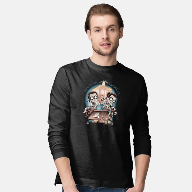 Truth or Consequences-mens long sleeved tee-saqman