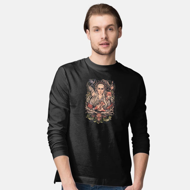 King in the Woodland Realm-mens long sleeved tee-MedusaD