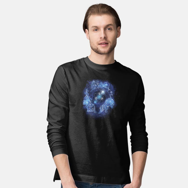 Legendary Dogs of the Stars-mens long sleeved tee-ChocolateRaisinFury