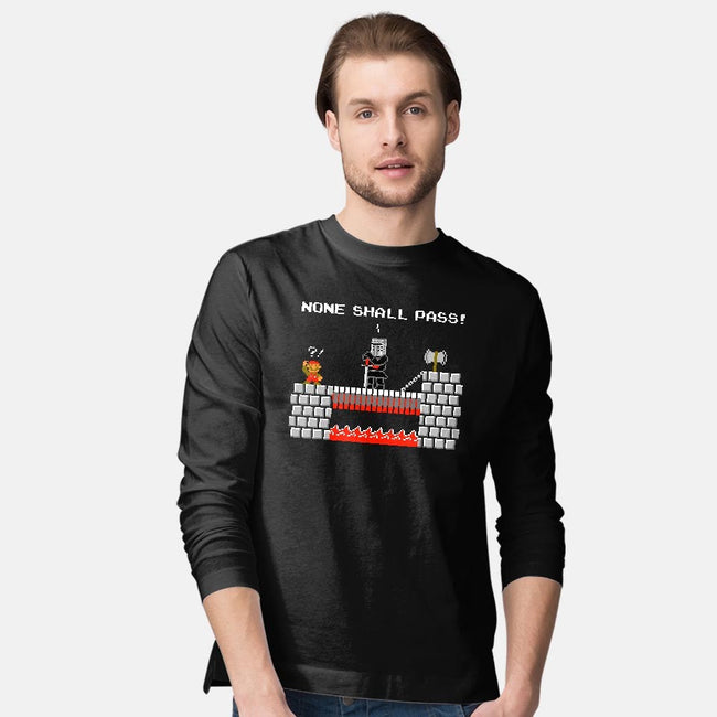 None Shall Pass Including Plumbers-mens long sleeved tee-RyanAstle