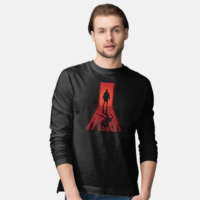 Upside Down Shadows-mens long sleeved tee-AlynSpiller