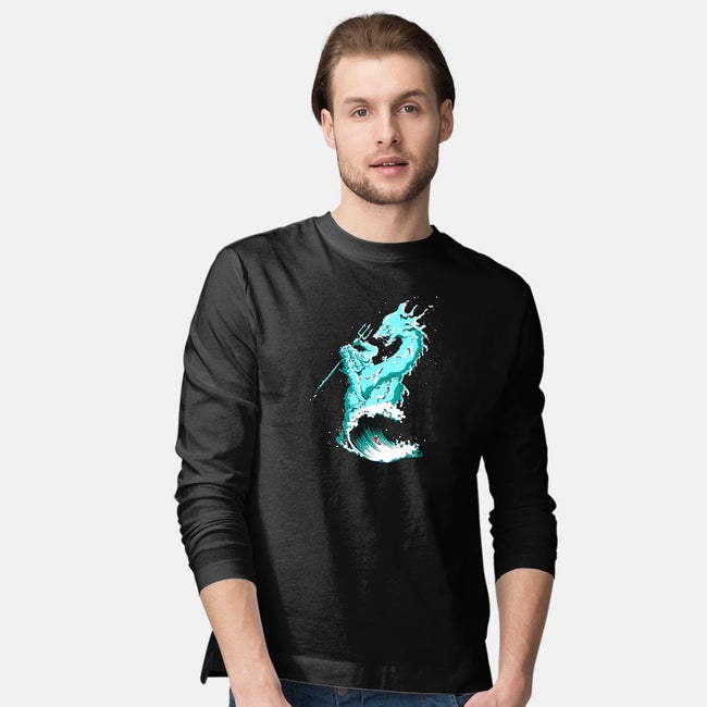 Ocean Fight-mens long sleeved tee-flying mouse