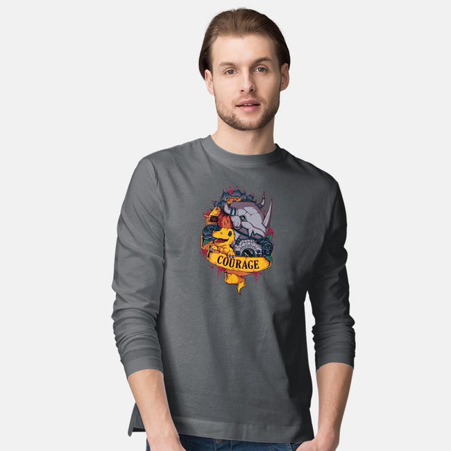 Courage Power-mens long sleeved tee-Typhoonic