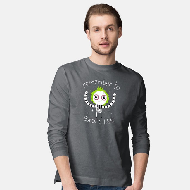 Remember to Exorcise-mens long sleeved tee-DinoMike