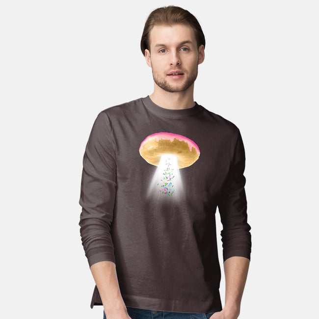 Unidentified Frying Object-mens long sleeved tee-jerbing