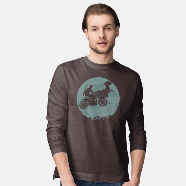 Jurassic Moon-mens long sleeved tee-ZombieDollars