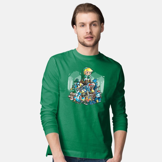 Objects-mens long sleeved tee-trheewood