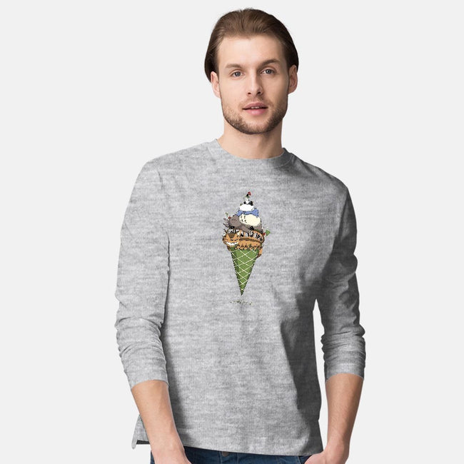 Matcha Forest Crunch-mens long sleeved tee-Ionfox