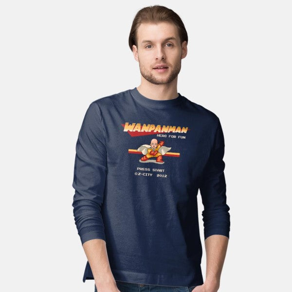 Wanpanman-mens long sleeved tee-The Grilled Bacon