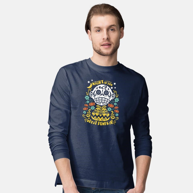 Night of the Great Pumpkin-mens long sleeved tee-jrberger