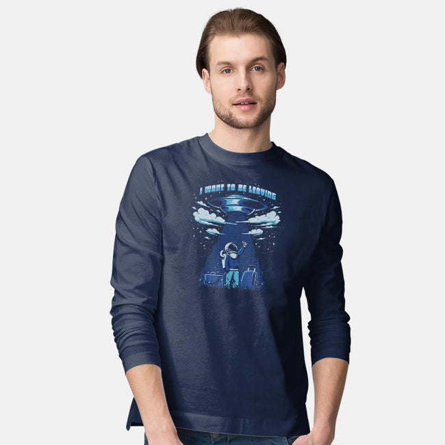 I Want to be Leaving-mens long sleeved tee-ilustrata
