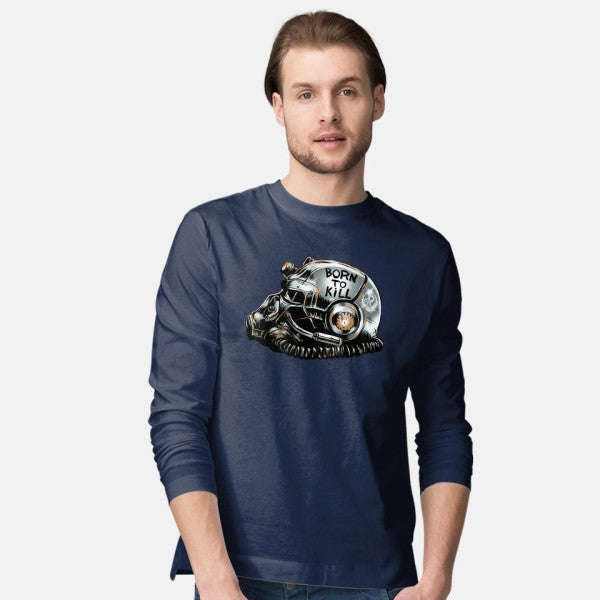 War Face Never Changes-mens long sleeved tee-Fishmas