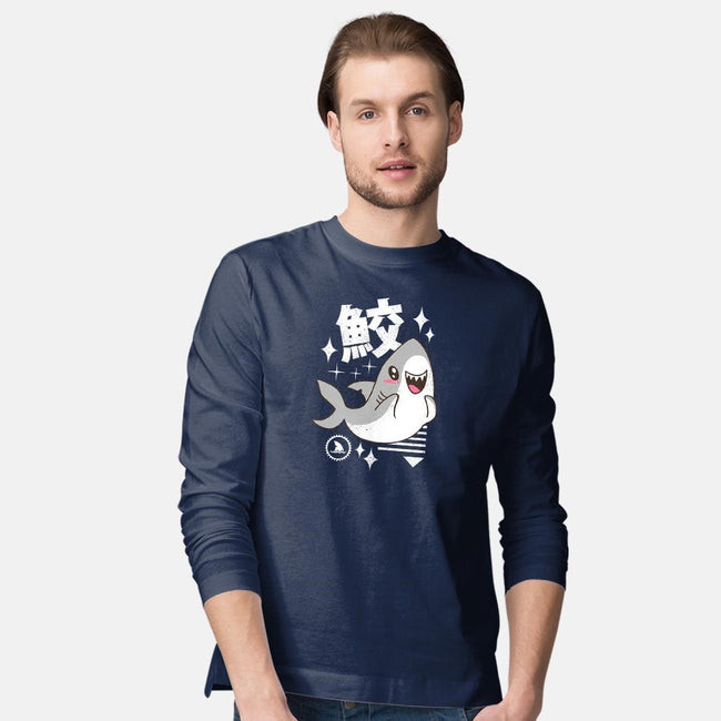 Kawaii Shark-mens long sleeved tee-vp021