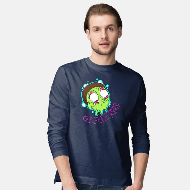 OH JEEZ-mens long sleeved tee-ithrowtrainz
