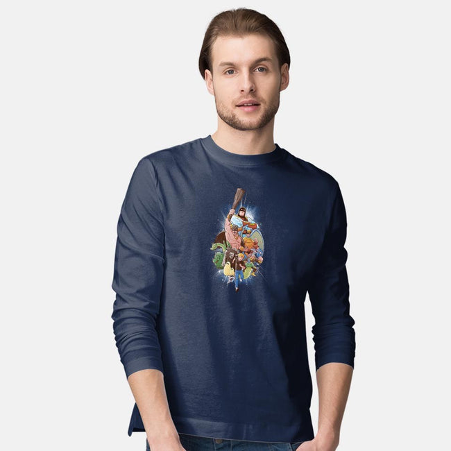CHILDHOOD HEROES-mens long sleeved tee-Skullpy
