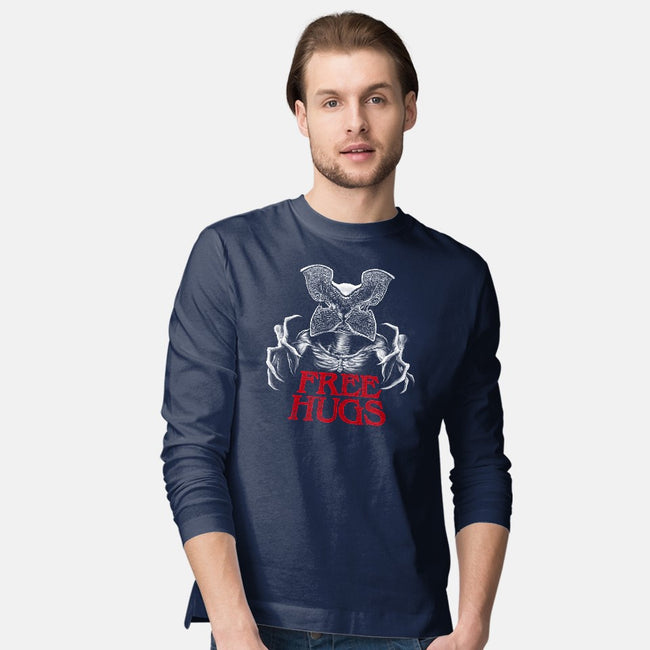 Upside Down Hugs-mens long sleeved tee-batang 9tees