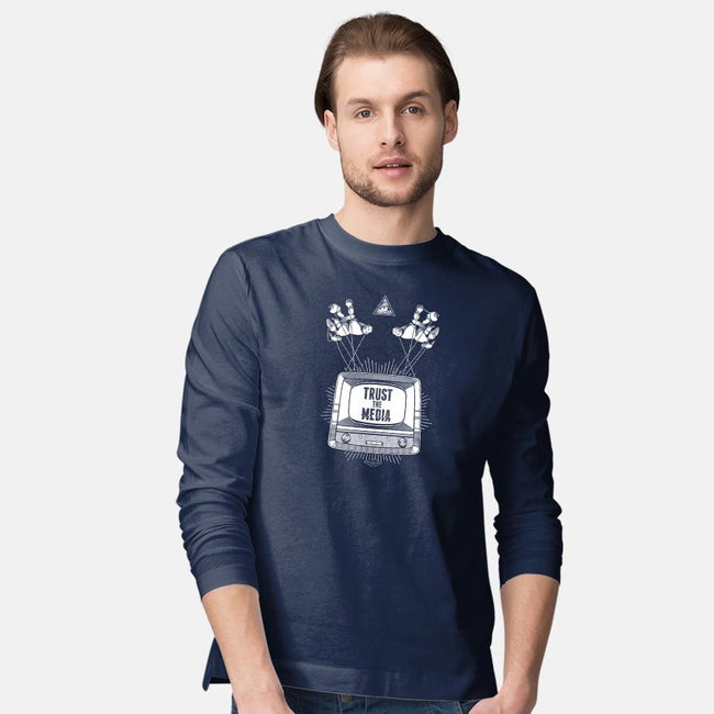 Trust the Media-mens long sleeved tee-department