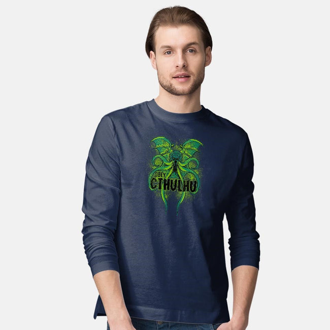 Obey The Cthulhu-mens long sleeved tee-fanfreak1