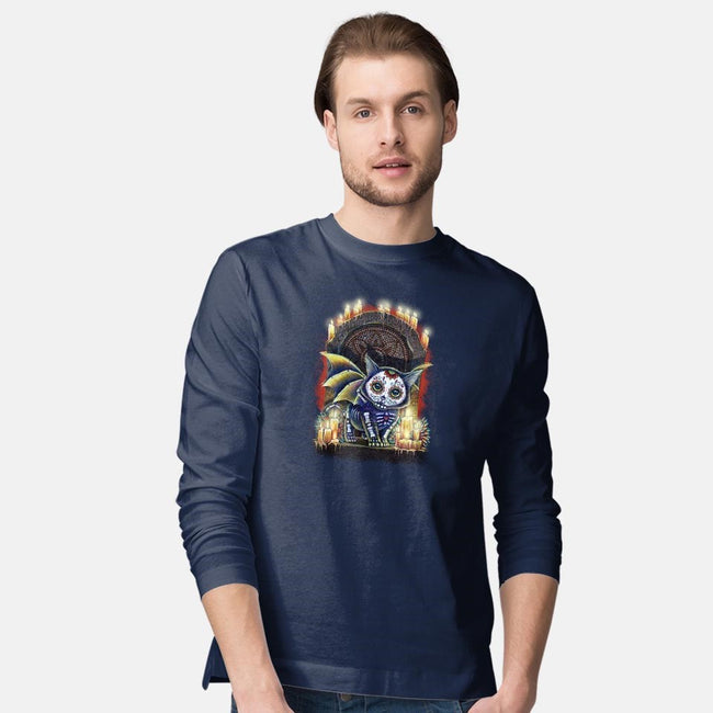 Kitty of the Dead-mens long sleeved tee-MoniWolf