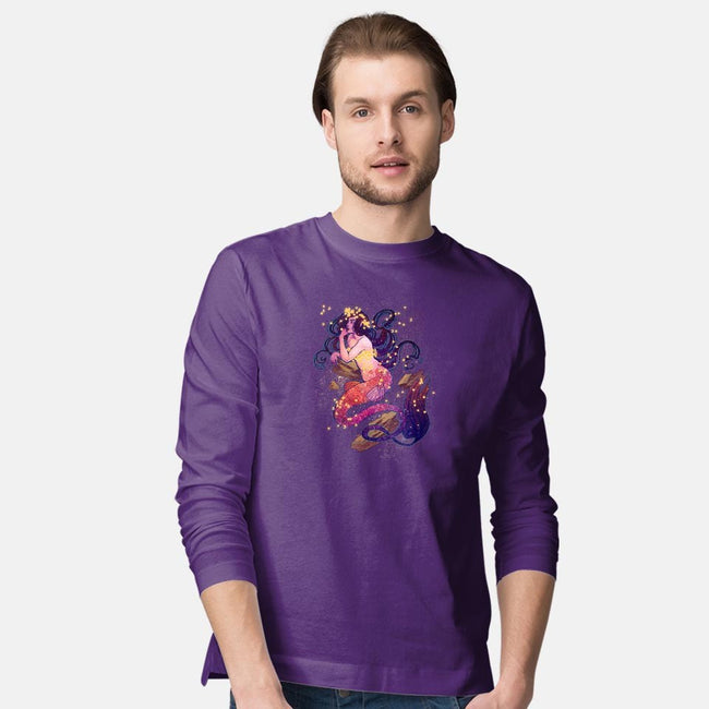 Cosmic Mermaid-mens long sleeved tee-dailenogden