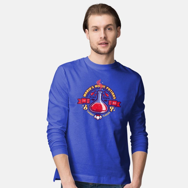 Mario's Magic Potions-mens long sleeved tee-Minilla