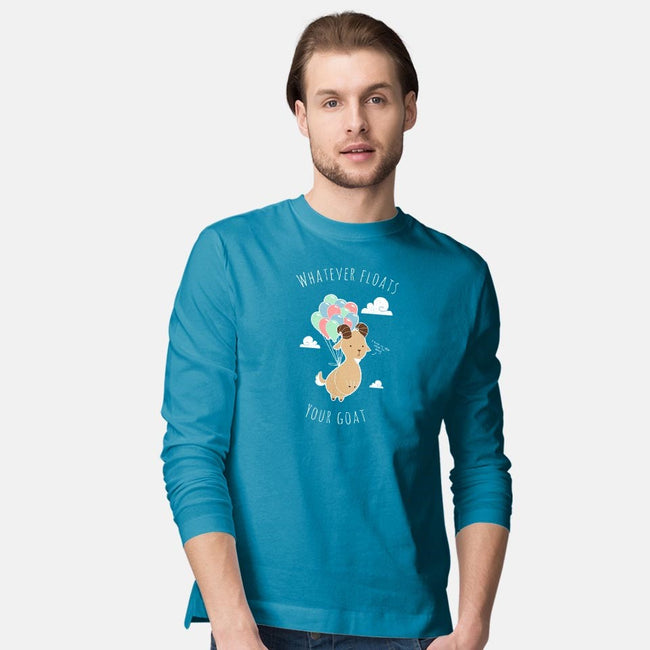 Whatever Floats Your Goat-mens long sleeved tee-ChocolateRaisinFury