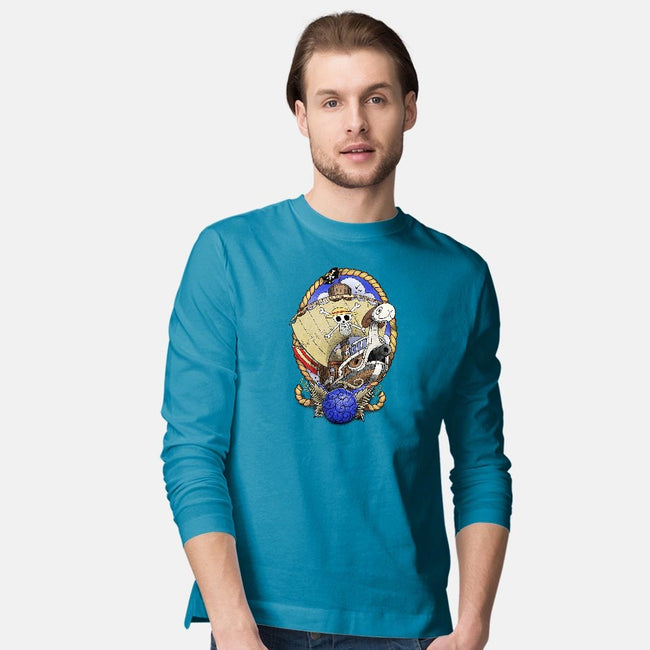 Old School's Going Merry-mens long sleeved tee-aLittleFED