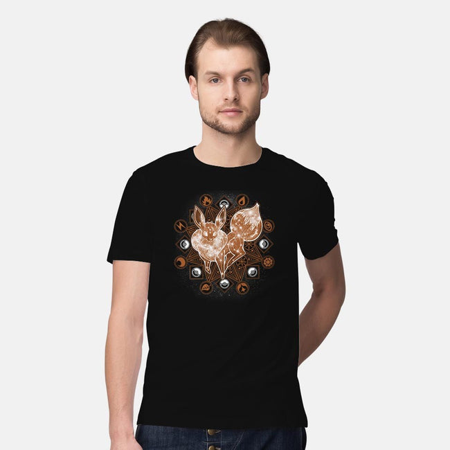 Starry Sky Evolution-mens premium tee-ChocolateRaisinFury
