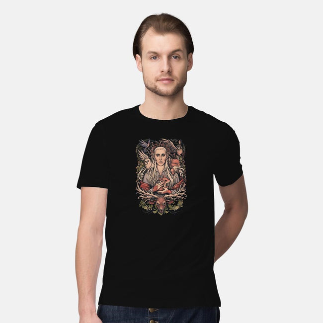 King in the Woodland Realm-mens premium tee-MedusaD