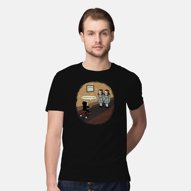 I Saw Something Creepy-mens premium tee-TonyCenteno