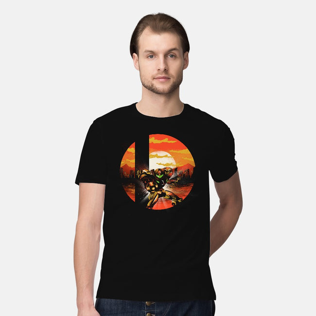 Ultimate Space Hunter-mens premium tee-dandingeroz