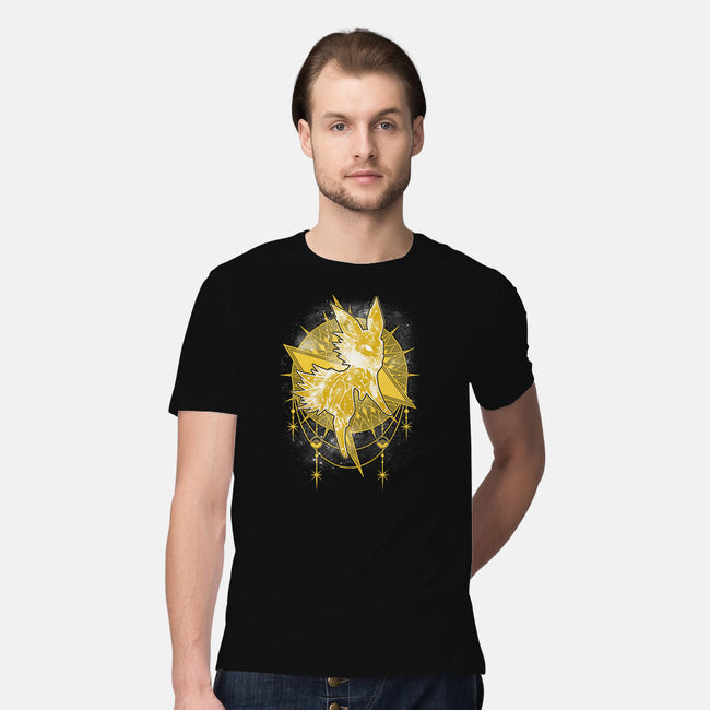 Starry Sky of Lightning-mens premium tee-ChocolateRaisinFury