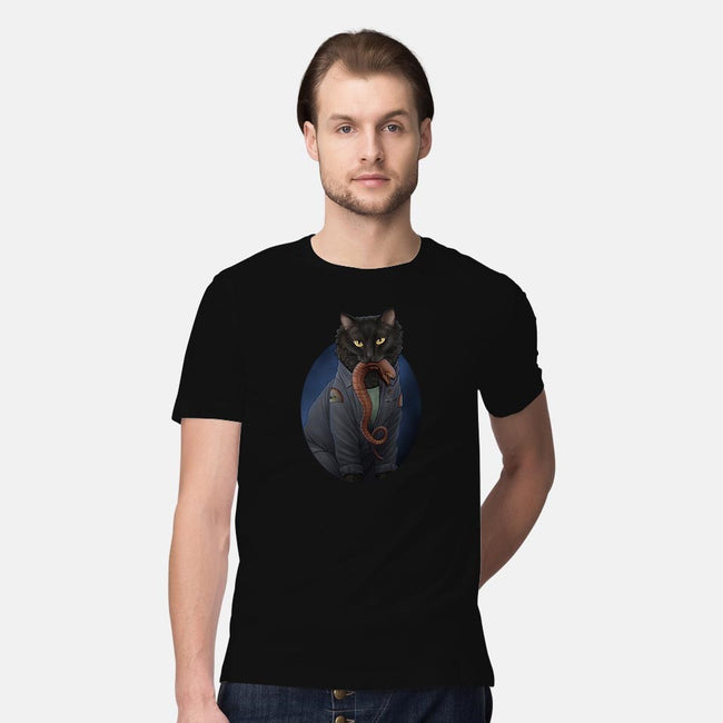 In Space, No One Can Hear You Meow-mens premium tee-JennyParks