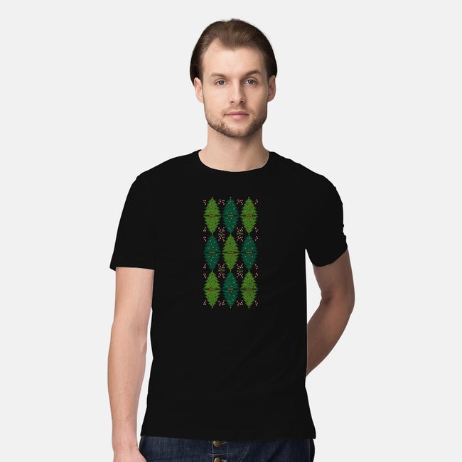 Christmas Argyle-mens premium tee-MJ