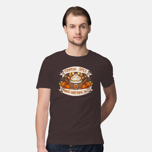 Pumpkin Spice Is Nice-mens premium tee-VinnieDraws