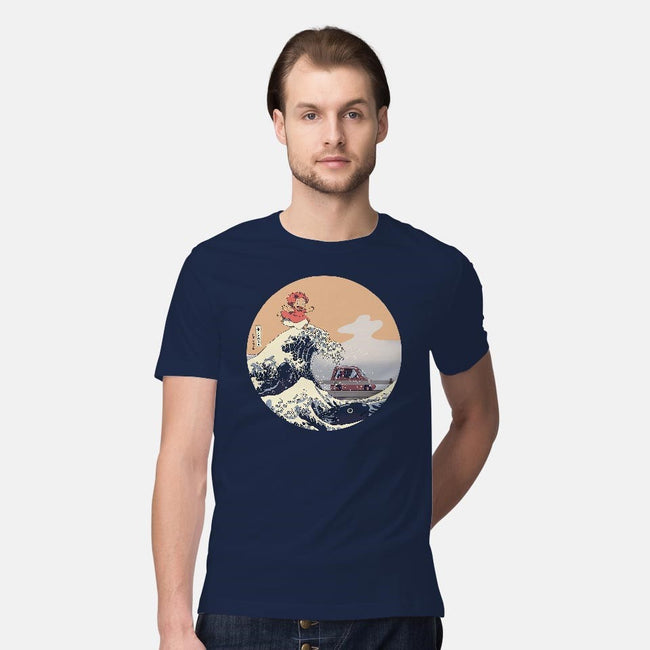 On the Cliff by the Sea-mens premium tee-leo_queval
