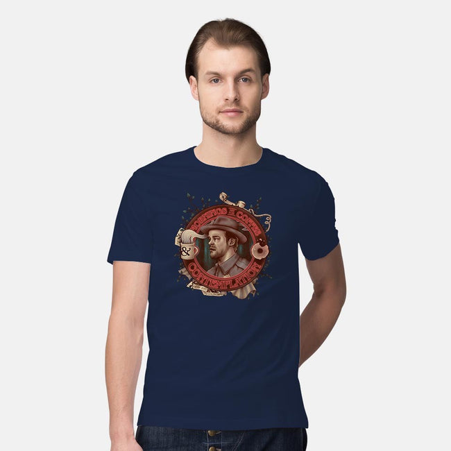 Coffee and Contemplation-mens premium tee-Creative Outpouring