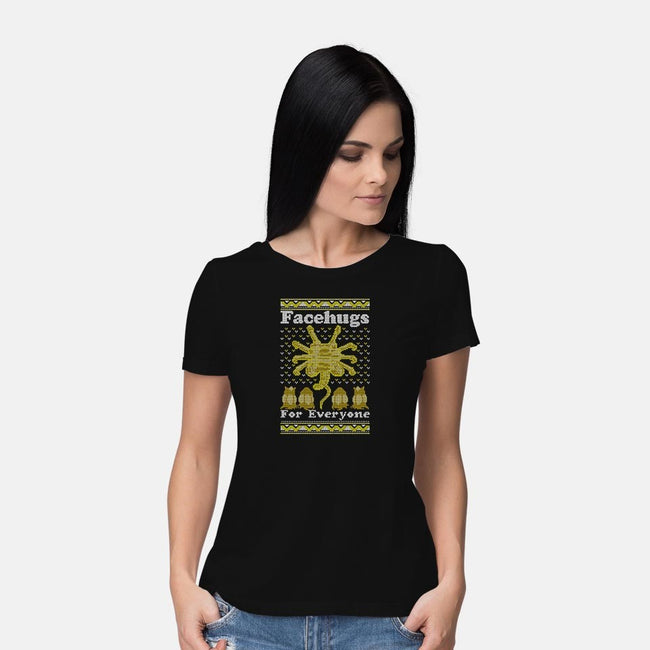 Face Hugs For Everyone-womens basic tee-maped
