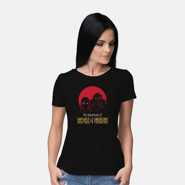 Adventures of FemShep-womens basic tee-Cattoc_C