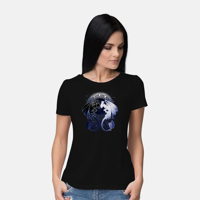 Two Dragons-womens basic tee-xMorfina