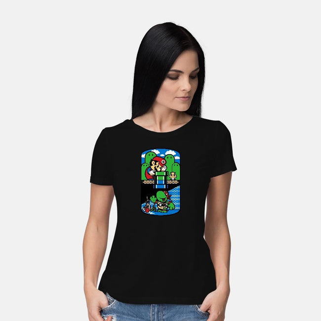 Help a Brother Out-womens basic tee-harebrained