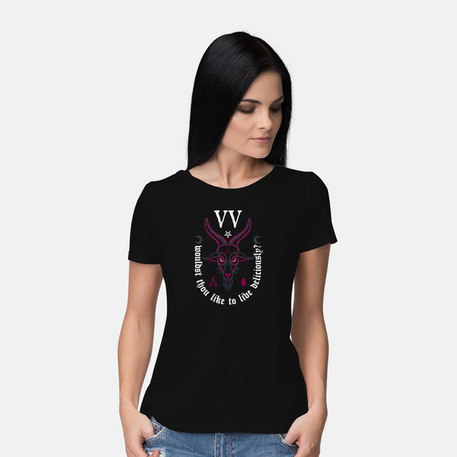 Deliciously?-womens basic tee-Nemons